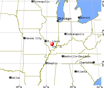 Ina, Illinois map