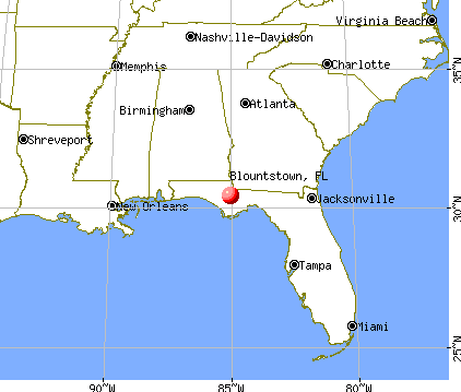 Blountstown, Florida map