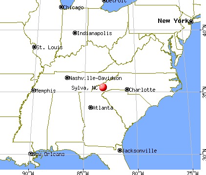 Sylva, North Carolina map