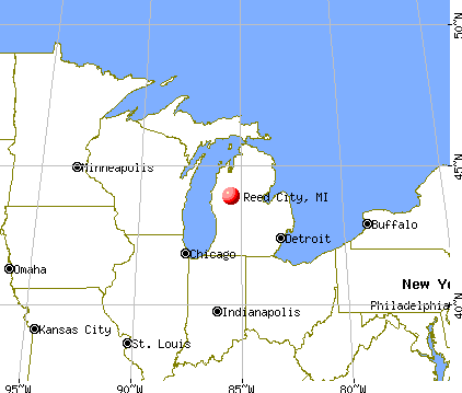 Reed City, Michigan map