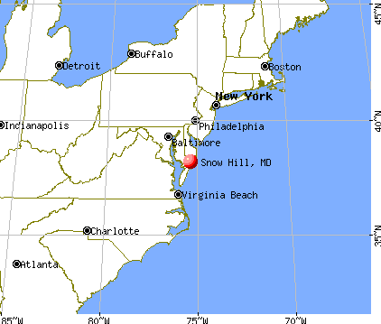 Snow Hill, Maryland map