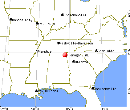 Henagar, Alabama map