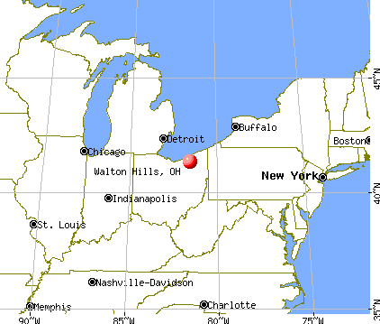 Walton Hills, Ohio map