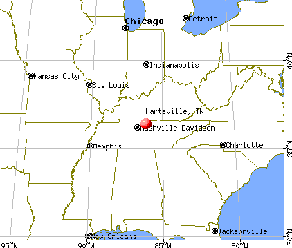 Hartsville, Tennessee map