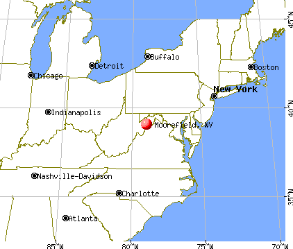 Moorefield, West Virginia map