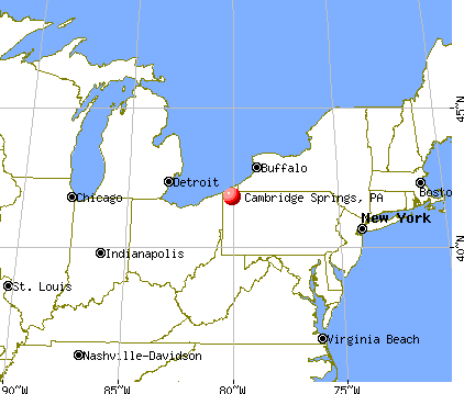 Cambridge Springs, Pennsylvania map