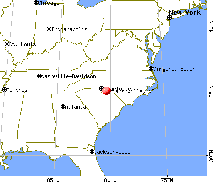 Marshville, North Carolina map