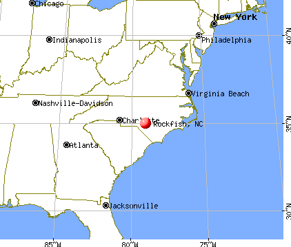 Rockfish, North Carolina map