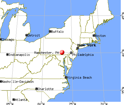 Manchester, Pennsylvania map