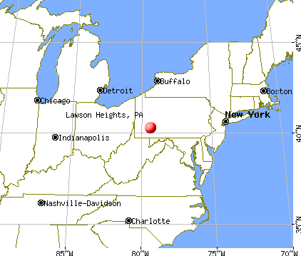 Lawson Heights, Pennsylvania map