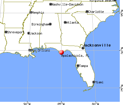 Apalachicola, Florida map