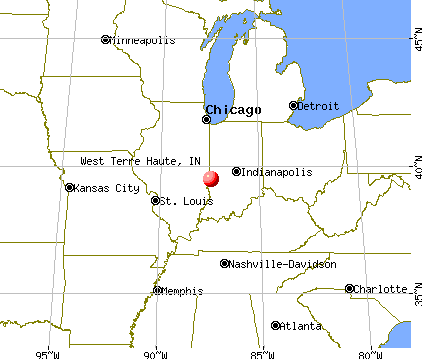 West Terre Haute, Indiana map