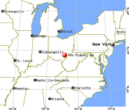 The Plains, Ohio map