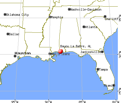 Bayou La Batre, Alabama map