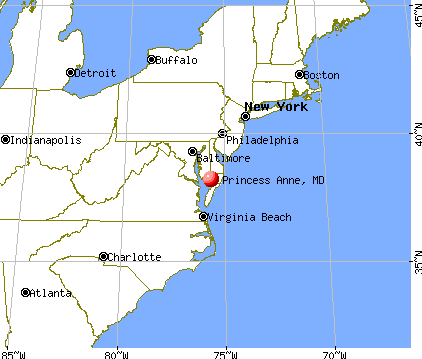 Princess Anne, Maryland map