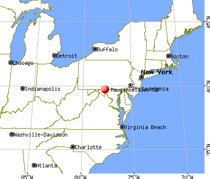 Maugansville, Maryland map