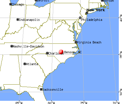 Benson, North Carolina map