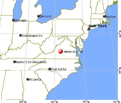 Amherst, Virginia map