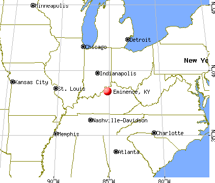 Eminence, Kentucky map
