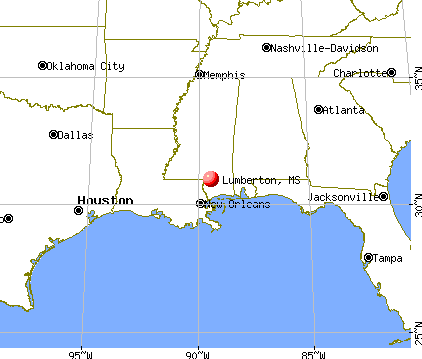 Lumberton, Mississippi map