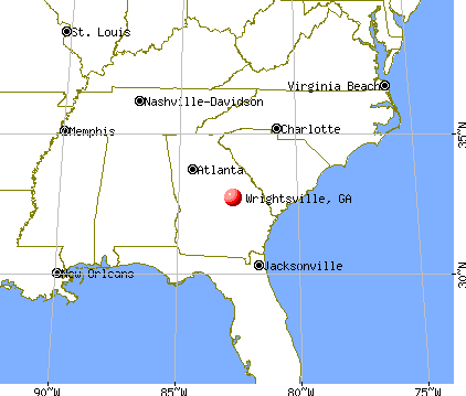 Wrightsville, Georgia map