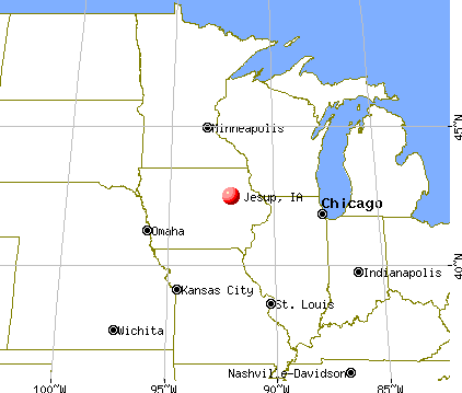 Jesup, Iowa map