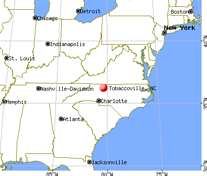 Tobaccoville, North Carolina map