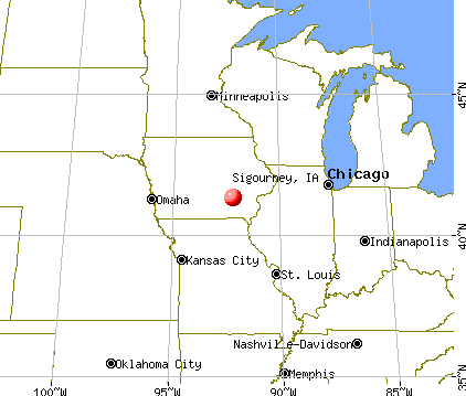 Sigourney, Iowa map
