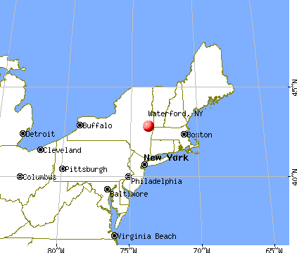 Waterford, New York map