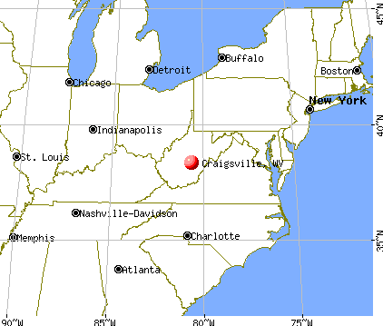 Craigsville, West Virginia map