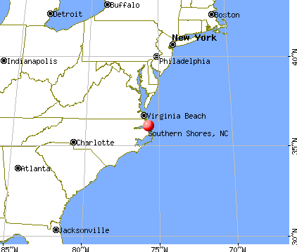 Southern Shores, North Carolina map