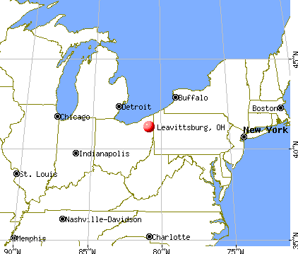 Leavittsburg, Ohio map