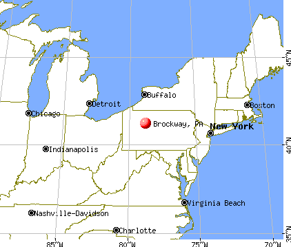 Brockway, Pennsylvania map