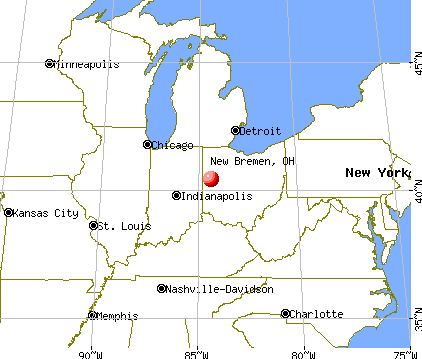 New Bremen, Ohio map
