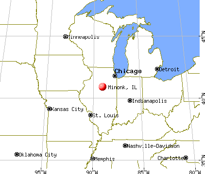 Minonk, Illinois map