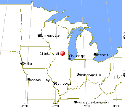 Clinton, Wisconsin map