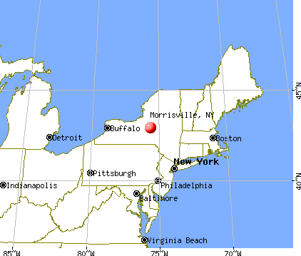 Morrisville, New York map