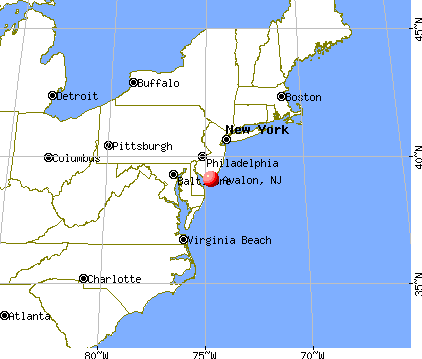 Avalon, New Jersey map