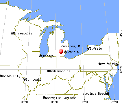 Pinckney, Michigan map