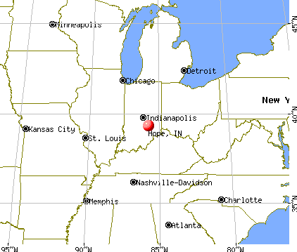 Hope, Indiana map