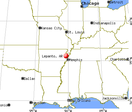 Lepanto, Arkansas map