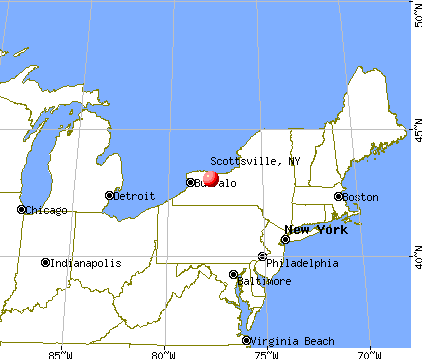 Scottsville, New York map