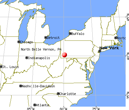 North Belle Vernon, Pennsylvania map
