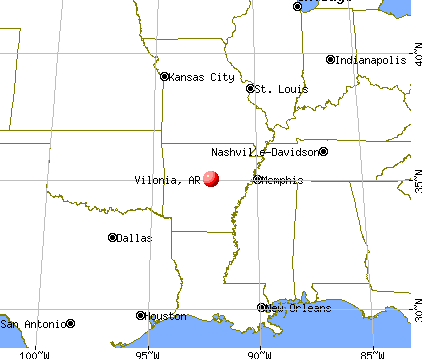 Vilonia, Arkansas map