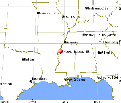 Mound Bayou, Mississippi map