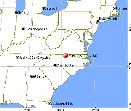 Yanceyville, North Carolina map