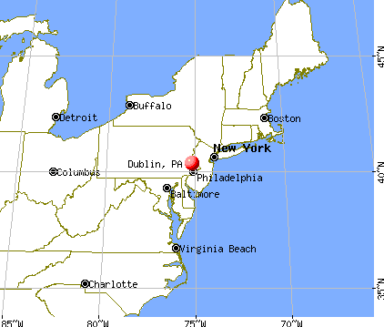 Dublin, Pennsylvania map