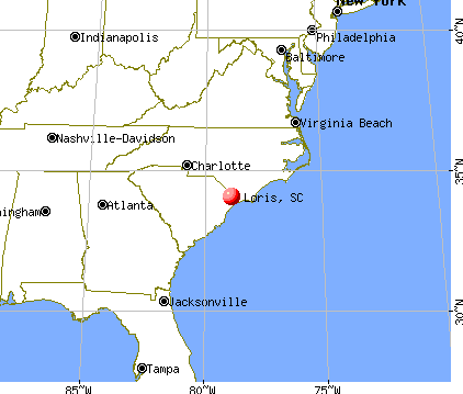 Loris, South Carolina map