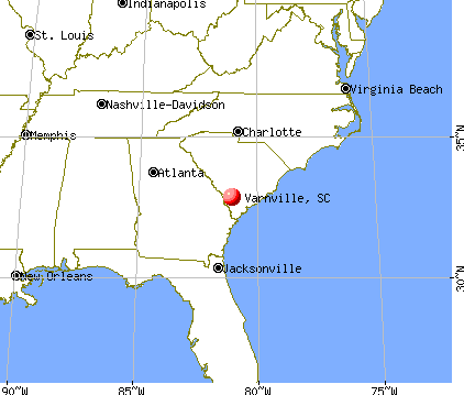 Varnville, South Carolina map