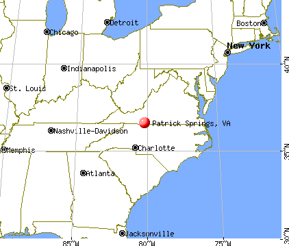 Patrick Springs, Virginia map